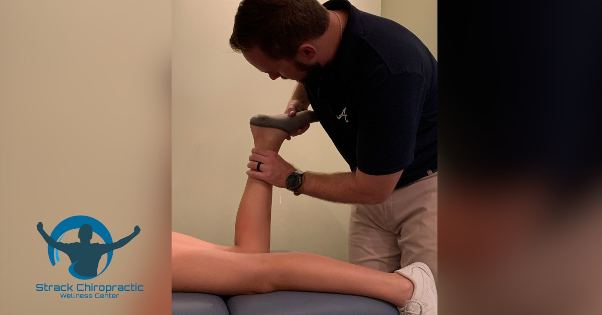 Woodstock Chiropractor treats sprained ankle